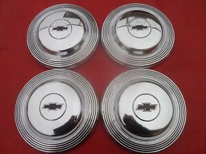 Vintage 1965 Chevy L78 Impala Belair Dog Dish Poverty Hubcaps Wheel Covers