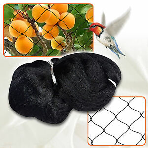 Bird Netting 50 x50 Net Netting For Poultry Avaiary Game Pens 2x2 Black Mesh