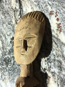 Old Antique Vintage African Wooden Carving Statue Figurine Man Fertility Figure