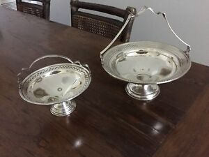 2 Sterling Silver Candy Trays Not Scrap Weighted 14 Oz