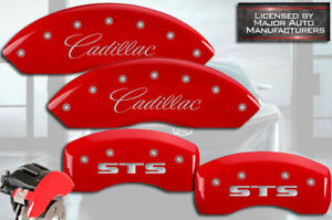 2005 2011 Cadillac Sts Je5 Front Rear Red Mgp Brake Disc Caliper Covers 4pc