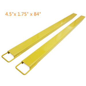 84 Steel Pallet Fork Extensions Forklifts Lift Truck Slide 4 5 1 75 84