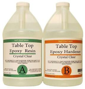 Table Top Epoxy Resin Crystal Clear 1 Gallon Kit For Super Gloss Coating