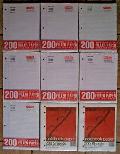 Pen tab 1400 Sheets Of College Ruled Mead 400 Sheets Wide Ruled Notebook Paper