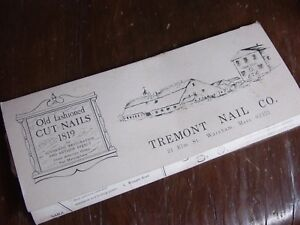 Vintage Furniture Restoration Nail Salesman Sample Tremont Hardware Complete Set