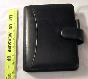 Franklin Covey Black Nappa Leather Planner Organizer Magnetic Catch 6 Ring Usa
