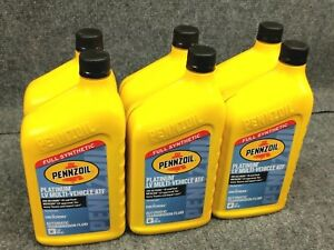 6 Pack Pennzoil Platinum Full Synthetic Lv Multi vehicle Atf New