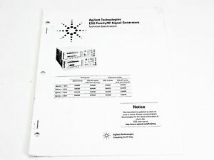 Hp Technical Specifications Esg Family Rf Signal Generators