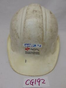 Vintage Norton Hard Hat Used usa Made ngpl natural Gas Pipeline Company