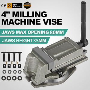 4 Precision Bench Lathe Milling Swivel Vice Base Securely Clamping Vise