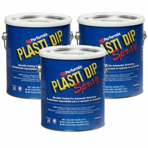Plasti Dip Multi Purpose Rubber Coating Spray Red 1 Gallon pack Of 3