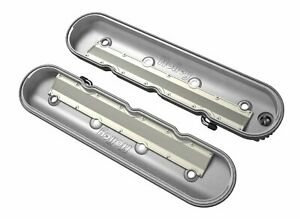 Holley 241 131 Ls Valve Covers Vintage Finned Polished