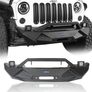 Front Rear Bumper W Tire Carrier D rings Iron For Jeep Wrangler Jk 07 18