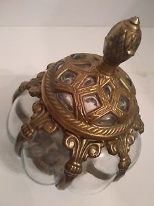 India Candy Jar Brass Bubble Glass