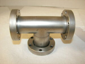 Varian High Vacuum Research Chamber 3 way Rotatable 2 75 Flange All Rotate