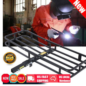 Cargo Carrier Luggage Basket Mounted Rack Hitch Car Suv Truck Atv Folding Steel