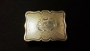 Victorian Sterling Silver Vinaigrette 1847 Edward Smith Birmingham