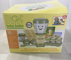Magic Bullet Baby Food Making System 20 Piece Set plus 2 Storage Freezer Trays