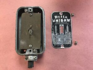Vintage Delta Rockwell Unisaw Switch Box Cover And Switch Lta 444