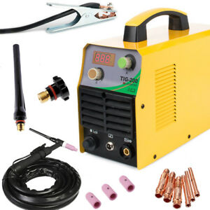 Tig 110 220v Dc Inverter 200amp Argon Gas Wig Welding Machine Weld Welder Easy