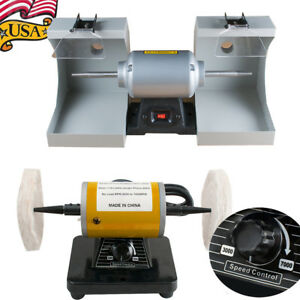 Polisher Polishing Machine 3 7k Speed Jewelry Dental Lab Lathe Buffing Dust Hood
