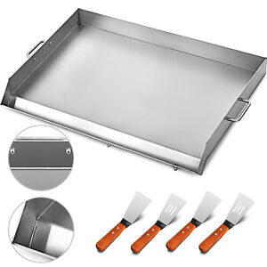 32 X 17 Stainless Steel Comal Flat Top Bbq Cooking Griddle For Double Stove
