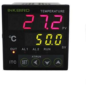 Itc 100 Temperature Controllers Pid Thermostat Ssr Heat Sink Relay Alarm Output