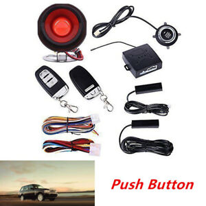Keyless Entry Car Alarm Security System With Engine Ignition Push Button Starter