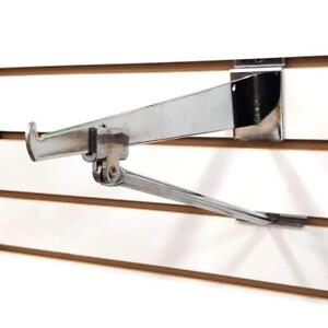 Slatwall Shelf Knife Bracket With Bracket Support Arm Chrome Wholesale