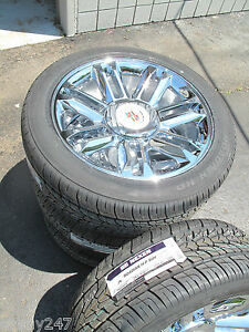 22 New Escalade Platinum Factory Style Chrome Wheels 305 40 22 Tires 5358 0903