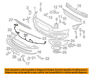 Volvo Oem 10 16 Xc70 Front Bumper Grille Grill harness 31296350