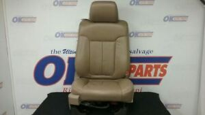 09 Ford F150 Front Right Passenger Power Seat Tan Leather
