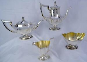 Gorham Plymouth 4 Piece Sterling Silver Coffee Tea Service No Mono