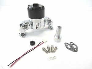 Bpk 1107c Aluminum Sbc 350 Chevy High Flow Electric Water Pump Chrome