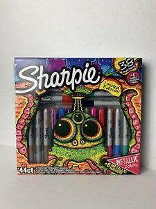 New Sharpie Limited Edition 44 Piece Gift Set Markers And Coloring Pages