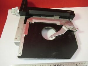 Olympus Japan Stage Table Micrometer Microscope Part Optics As Pictured