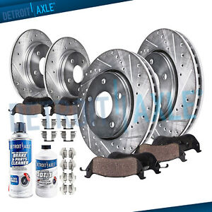 For 1997 1999 For Subaru Legacy Front Rear Disc Drilled Rotor Ceramic Brake Pad
