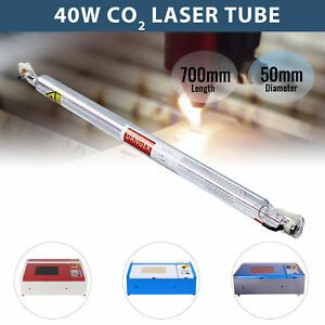 40w Co2 Laser Tube Machines 700mm X 50mm For Laser Engraving Cutting