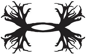 Under Armour Vinyl Decal Window Sticker Deer Antlers Horns Hunting Fishing