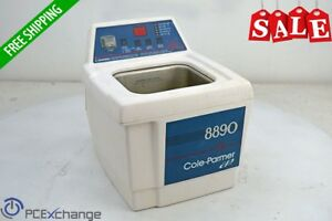 Cole Parmer 8890 Dth Ultrasonic Cleaner Digital Heated Timer 47 Khz 117vac