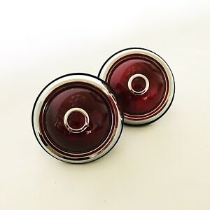 Hot Rod 1950 Pontiac Tail Lights With Glass Red Dots Fitted 1pr