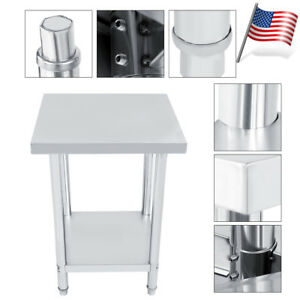 24 X 24 Stainless Steel Kitchen Work Table Commercial Restaurant Table Us