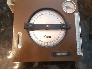 Very Rare Bevel Protractor 0 360 Degree Angular Dial Angle Ussr 1965s