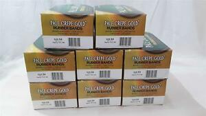 Lot 8 Alliance Size 64 Pale Crepe Gold Softest Stretch Rubber Band One Lb Boxes