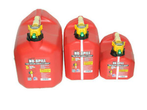 Lot Of 3x No spill 1 1 4 2 1 2 And 5 Gallons Gasoline Fuel Gas Can Red