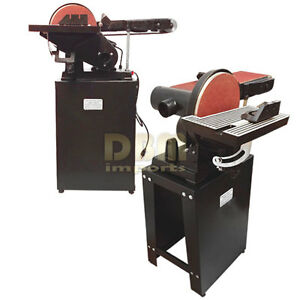 6 X 9 Belt Disc Sander Tilt Table Vertical Horizontal Disk Sander W stand
