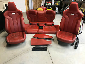 2015 2016 Bmw M4 Front And Rear Seats Set Oem Sakhir Orange Leather