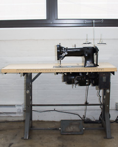 Singer 111w153 Walking Foot Industrial Sewing Machine W Table And Motor