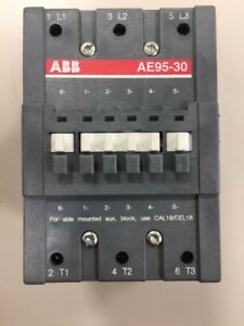 New Abb Ae95 30 Contactor 145 Amp 600v 75hp W Aux Contacts Ae95301183