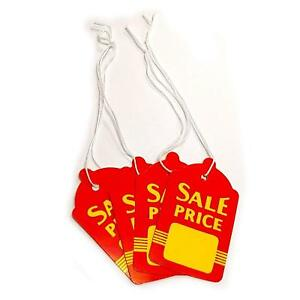 Large Red Yellow Strung Boutique Sale Price Tags 1 6 W X 2 7 H Wholesale